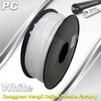 China 1.75 / 3.0 mm  PC Filament  White for RepRap , Cubify 3D Printer Filament wholesale