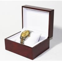 China Classic Jewelry Wooden Box With White Leather Pillow  , Wooden Watch Box wholesale
