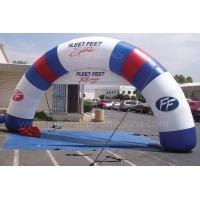 China Giant Inflatable Finish Arch Rental For Celebration 0.4mm PVC Tarpaulin wholesale