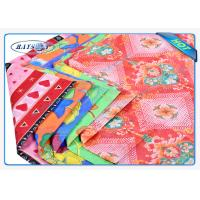 China Fashion Embossed Pattern 3 Colors Printed White PP Spunbond Fabric Roll wholesale