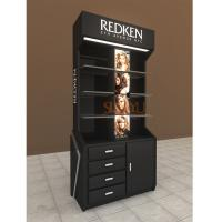 China Retail POS Cosmetic Organizer CountertopKiosk Full Set Display Stand With Drawer And Tray wholesale
