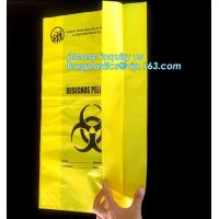 China Hospital Biohazard Bag Medical Waste Garbage Bags Infections Linens Waste Bags, Biodegradable Plastic Hospital biohazard wholesale