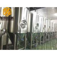 Quality Beer Brewing Conical Fermenter 10HL 2mm Cooling Jacket #4 Finished Exterior Surface for sale