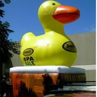China PVC Tarpaulin Big Inflatable Yellow Duck Waterproof With Advertising Banner wholesale