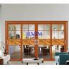 China Double Glazed Aluminum Sliding Doors With 2mm 120mm Depth Aluminum Profile wholesale