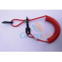 China Hot Selling Solid Red Elastic Kill Swith w/Hand Grips Key Floating Lanyard wholesale