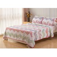 China Country Style Wave Embroidered King Size Patchwork Quilts 3pcs 100% Cotton wholesale