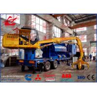 Buy cheap Mobile Metal Baler Logger Mounted on Trailer and Grab For Metal Recyling from wholesalers