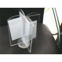 China 3mm Four Sides Rotatable Acrylic Menu Holder , Restaurant Sign Holders wholesale