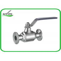 China Durable Clamp Sanitary Ball Valves For Hygienic Industry Pipe System wholesale