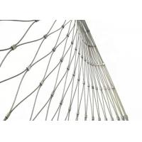 China Stainless Steel Wire Rope Mesh Fence for Zoo Enclosure and Animal Cages wholesale