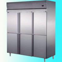 China Stainless Steel Commercial Upright Freezers 6 Doors For Restaurant Factory wholesale