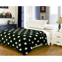 China Household Bedding Fleece Flannel Blanket Color Printed With Custom Patterns wholesale