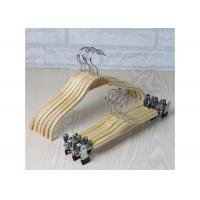 China Wooden Laundry Padded Retail Store Hangers , Plywood Material Bulk Coat Hangers wholesale
