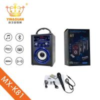 China portable karaoke bletooth speaker with microphone active professional amplifier on sale