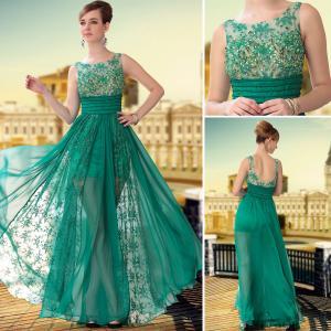 China DORISQUEEN(DORIS)transparent wear embroid tulle formal dresses 30650 wholesale