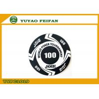 China Large Funny Rounders World Tournament Poker Chips With Values 100 wholesale