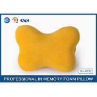 Decorative bone shaped memory foam car travel pillow for neck and head
