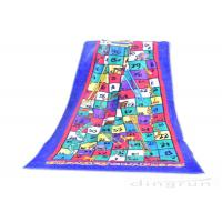 Reactive Large Snakes And Ladders Game Beach Towel Printing 400gsm