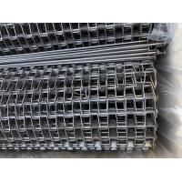 China 304/316 SS Flat Wire Conveyor Belt / Conveyor Chain Belt 0.5mm-3mm Thickness wholesale