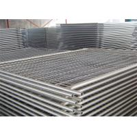 Buy cheap Security Temporary Fence Panels / Steel Temporary Metal Fencing Anti - Climb from wholesalers