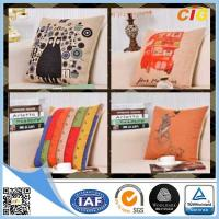 China Black / Red / Blue Colorful Decorative Embroidery Decorative Cushion Covers , Chair Cushion on sale