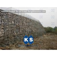 China Twisted Hexagonal Hot-Dip Galvanized Gabion Retaining Wall , Plastic Coated Woven Gabion Mattress wholesale