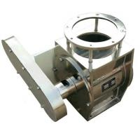 Buy cheap SS304 rotary valve  chain drive flange DN250 for flour mill or coffee power or milk power in dust collection vaccum use from wholesalers