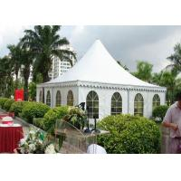 China Outdoor High Peak Frame Tent 850 G / Sqm Pvc Roof Fabric Easy Maintain wholesale