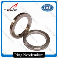 China Ndfeb N35 - N52 Sintered Neodymium Permanent Magnets Bright Silver Color on sale