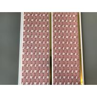 China Pink Color water resistant bathroom wall panels Polyvinyl Chloride Material wholesale