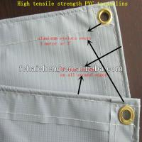 China High quailty PVC tarpaulins with aluminum eyelets and PP rope wholesale