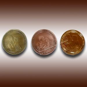 China wedding anniversary gold,silver,copper commemorative coin wholesale