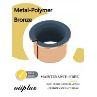 China Metal Polymer Split Plain Bearing With Sintered Bronze Layer Filled With PTFE wholesale