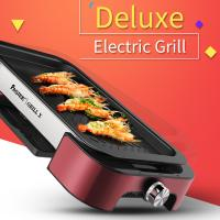 Buy cheap Electric BBQ grill with Non-stick Surface Korean Griddle Indoor and Outdoor  FST-53B red with  aluminium alloy product