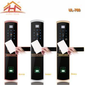 China Keyless Remote Control RFID Card Fingerprint Smart Lock With Waterproof Screen wholesale