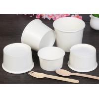 Buy cheap 600ml 800ml To Go Paper Soup Cups With Covers And Spoons White Color from wholesalers