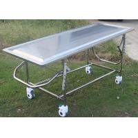 China Adjustable Mortuary Equipment Embalming Operating Autopsy Table of Stainless Steel wholesale