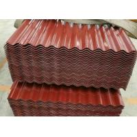 China Weatherability Colour Coated Metal Roofing Sheets , Corrugated Metal Roof Panels wholesale