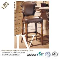China Stackable Wooden Tall Hotel Bar Stools High End Contemporary Counter Stools wholesale