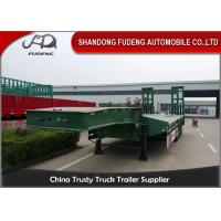 China Heavy Duty Truck transportation 80 ton Lowbed Semi Trailer Trucks And Trailers wholesale