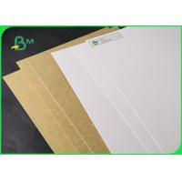 China 250gsm 325gsm White Clay Coated Kraft Back Paper For Food Wrapping 790 *1090mm wholesale