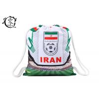 China Iran Football National Printed Drawstring Backpack Cotton Outdoor Sport wholesale