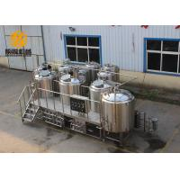 Quality Semi - Auto Control Beer Distillery Equipment 2000L 4 Vessels With Mash / Lauter for sale