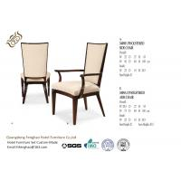 China Banquet Classical Fabric Hotel Dining Chairs With Arms / Hardwood wholesale