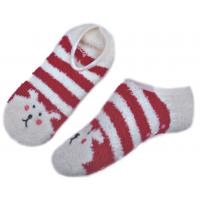 China Animal pattern & Aloe Infused SPA Socks polyester anti slip indoor slipper sock wholesale