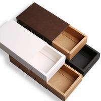 China Drawer Style Custom Printed Boxes Durable 350g Brown Kraft Paper Material wholesale