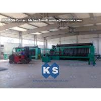 China Twisting Metal Wire Hexagonal Gabion Mesh Weaving Machine , 4300mm Double Rack Drive wholesale