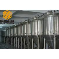 China Beer Brewing Conical Fermenter 10HL 2mm Cooling Jacket #4 Finished Exterior Surface wholesale