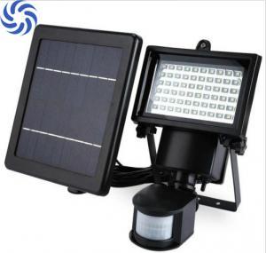 China Waterproof Solar Flood Lights / 60 LED Solar Security Light With Motion Sensor on sale